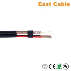 Rg59+2c cabo coaxial para câmara CCTV /televisão por satélite com marcação RoHS BNC padrão e ficha DC
