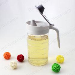 Molho de soja Vinagre Óleo xarope de ácer dispensador para frascos de vidro com tampa de plástico