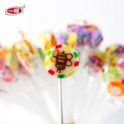 Dulces artesanales colorida mezcla de dulce de frutas en rodajas afrutado Lollipop Lollipop