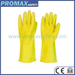 De lange Handschoenen van het Latex van het Huishouden van Andtensile Natual van het Manchet Waterdichte Rubber