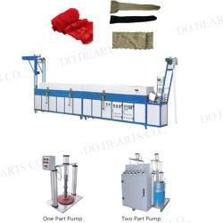 機械は網によって編まれるテープファブリック織物に伸縮性があるベルトを自動シリコーンのレースのコーティングの機械装置する
