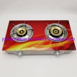 بنغلاديش بيع ساخنة الزجاج المقسى3D الطباعة 90*115 مم مزدوج Burner Gas Stove (HS-508)البند: HS-508