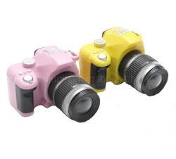 OEM Cadeaux de promotion de la forme de caméra en plastique de clignotement du voyant de la chaîne de clés