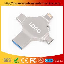 2019タイプC、iPhoneおよびアンドロイドのポートをサポートするマルチ機能の1台のOTG USBのフラッシュ駆動機構に付き最新の4台