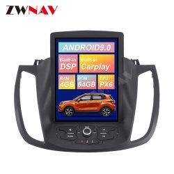 Art-Auto-DVD-Spieler des Android-9.0 64GB Tesla für Autoradio GPS-Navigations-Kopf-Geräten-Multimedia-Spieler-Selbststereolithographie 2013-2019 Ford-Kuga