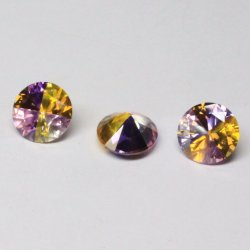 Leuchtendes rundes Mischfarben-Diamant-Schnitt-Großhandelslaborsynthetischer Kubikzircon-Stein CZ für die Schmucksache-Herstellung