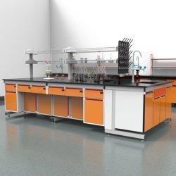 Farmaceutische fabriek Hout en staal horizontale Laminar Flow Lab schone meubels, ziekenhuis hout en staal lab bank met voeding/