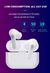 auricular inalámbrico Bluetooth Auriculares con auriculares auriculares de Deportes de la caja de carga Auriculares con micrófono dual para el teléfono