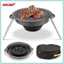 Tipo de coreanos Non-Stick portátil exterior FOGO Carbono Grill Carvão churrasco grill Articulável