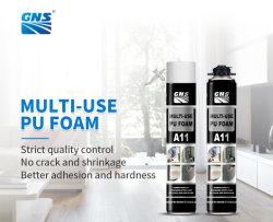 Schiuma PU ad alta densità da 750 ml con eccellenti capacità di montaggio elevata Isolamento termico e acustico
