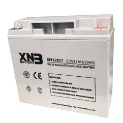 Prix Ex-Work Rechargeable Batterie étanche au plomb acide 12V17ah batterie pour onduleur/système d'alarme//système de communication d'éclairage de secours