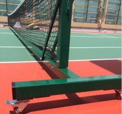 경쟁 휴대용 테니스/배구/배드민턴 포스트 네트 시스템(바퀴 포함