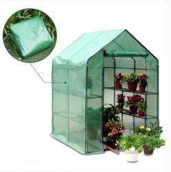 Venta caliente Caminata en Casa Verde pequeña portátil de alta calidad PVC que cubre el jardín Steeple Mini invernadero