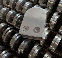 مشبك حامل القالبوستيل من الفولاذ المقاوم للصدأ ملحقات مشبك زجاج التثبيت للحامل، للزجاج مقاس 6-18 مم والأنابيب المسطحة/33,7 مم/38,1 مم/42,4 مم/48,3 مم/50,8 مم