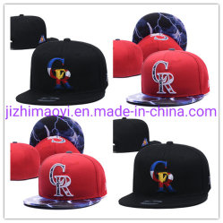 Mayorista personalizado de sarga de Colorado el deporte del béisbol de la tapa de la moda de las Rocallosas Hat Cap con bordados Gorra sombrero