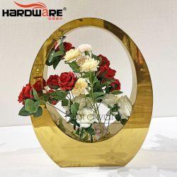 Корпус из нержавеющей стали мебель Flower Pot свадьбы оформление во главу угла