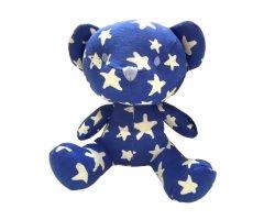Plüsch füllte Baumwolldruck-leuchtendes Stern-Bären-Spielzeug-glänzendes Licht ohne LED an