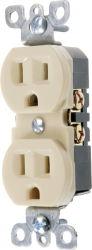 15A 125VAC, receptáculo de dúplex estándar Listado UL