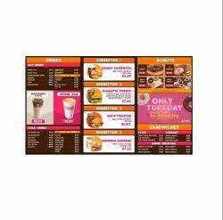 LCD-scherm van het restaurant digitale menukaart