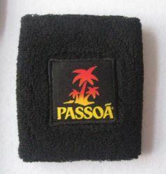 Katoenen Terry polsband met geborduurd Patch-logo