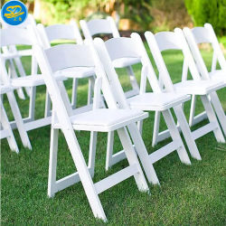 Boda al aire libre muebles del Partido de resina blanca plegable silla Wimbledon