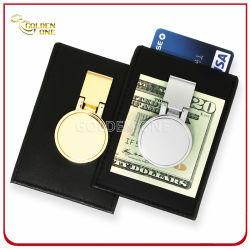 Clip di lusso dei soldi di metallo con il supporto di cuoio per la carta di credito
