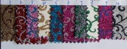 장식적인 뜨개질을 한 반짝임 벽지 직물