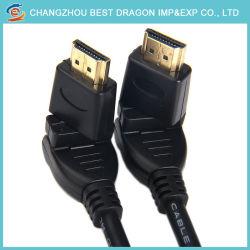 Câble HDMI HDMI 4k 3D 19 broches vers HDMI mâle 19 broches mâle Rotation à 360 degrés
