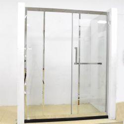 """S/S 304 Rahmen """"1"""" Form Gehärtete 8-mm-Glasduschen"""