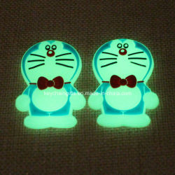 Aktion Custom PVC Doraemon mit Golw in Dark