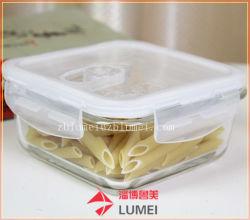 Verre/céréales alimentaires clip conteneur de stockage de blocage avec couvercle sans BPA le commerce de gros avec la FDA