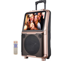 Théâtre mobile portable Shinco Bluetooth sans fil haut-parleur avec 15'' l'écran LCD TFT