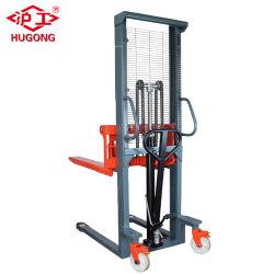 1t, 1,6 m de altura de elevación transpaleta manual apilador Manual para la venta