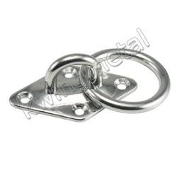 Rilievo dell'occhio del diamante dell'acciaio inossidabile con l'anello