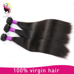 8~30 polegadas retas Brasileiro Cor Natural Tecelagem de fio de cabelo humano