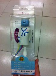 Promoción de la caja plegable de plástico transparente con el colgador (PP) Caja de plástico
