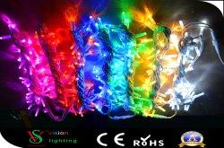 고무 케이블 10m 100LEDs는 LED 끈 빛을 방수 처리한다