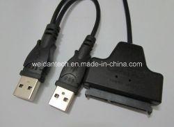 """""""Fácil"""" 2,5"""" SATA da unidade de CD-ROM do cabo USB"""