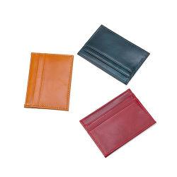 Cina fabbrica a buon mercato promozione Prezzo regalo vera pelle Slim RFID Titolare della carta di credito