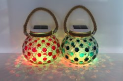 Bewegliche Solar Energy Tiffany-Lampen-Solarlampe für Partei