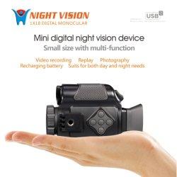 Périphérique infrarouge numérique monoculaire Portée de l'enregistreur de vision nocturne infrarouge