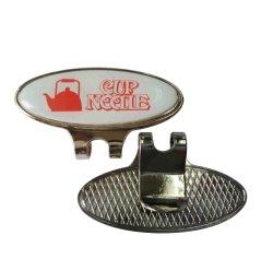 أكسسوارات ملابس أزياء صديقة للبيئة معدنية حرفة ناعمة المينا شعار مخصص Die caping Zinc Alloy/ Stalt Steel Golf Clip Hat Clip with Epoxy (024)
