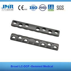 Implante ortopédico LC-DCP chapa larga placa óssea de metal da placa ortopédica