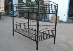 金属の二段ベッドの安い対の眠る人のベッド