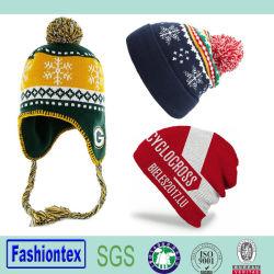 卸し売り安いカスタム冬の暖かい編まれた帽子の帽子