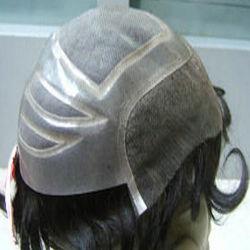 Запасов природных индийского тонкой моно Toupee волос