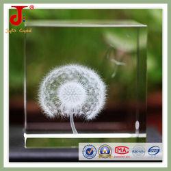 Kubus van het Glas van het Kristal van het nest 3D Laser Gegraveerde (jd-CC-500)