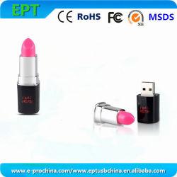 Индивидуальный логотип флэш-памяти диска губная помада флэш-накопитель USB (EM096-B)