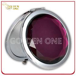 Оптовая торговля дешевые Crystal складная круглой металлической зеркало для макияжа