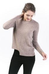 Kasjmier van de Truien van de Hals van vrouwen het Ronde Modieuze & MerinosWol Gemengde Sweater